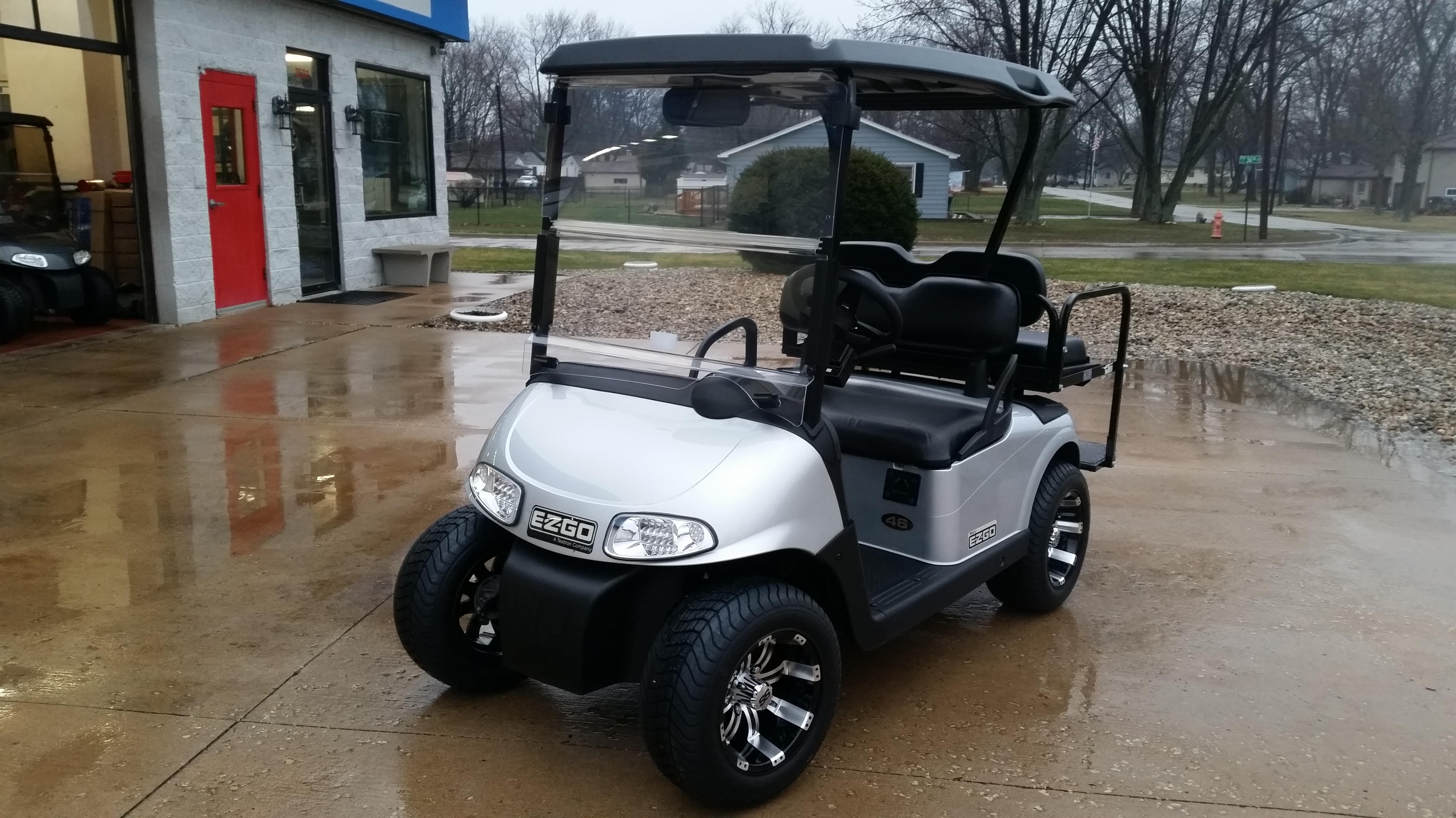 Metalic Silver / Platinum EZ-GO RXV - eXpress Custom Carts on custom electric golf carts, custom lifted golf carts, custom golf carts california, tricked out custom golf carts, ezgo golf carts, electric club car golf carts,